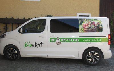 Neuer Lieferbus für unsere Bio-Äpfel
